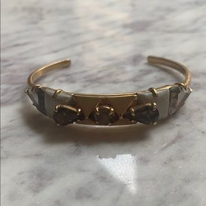J.Crew Crystal Bracelet w/ Textured Accents
